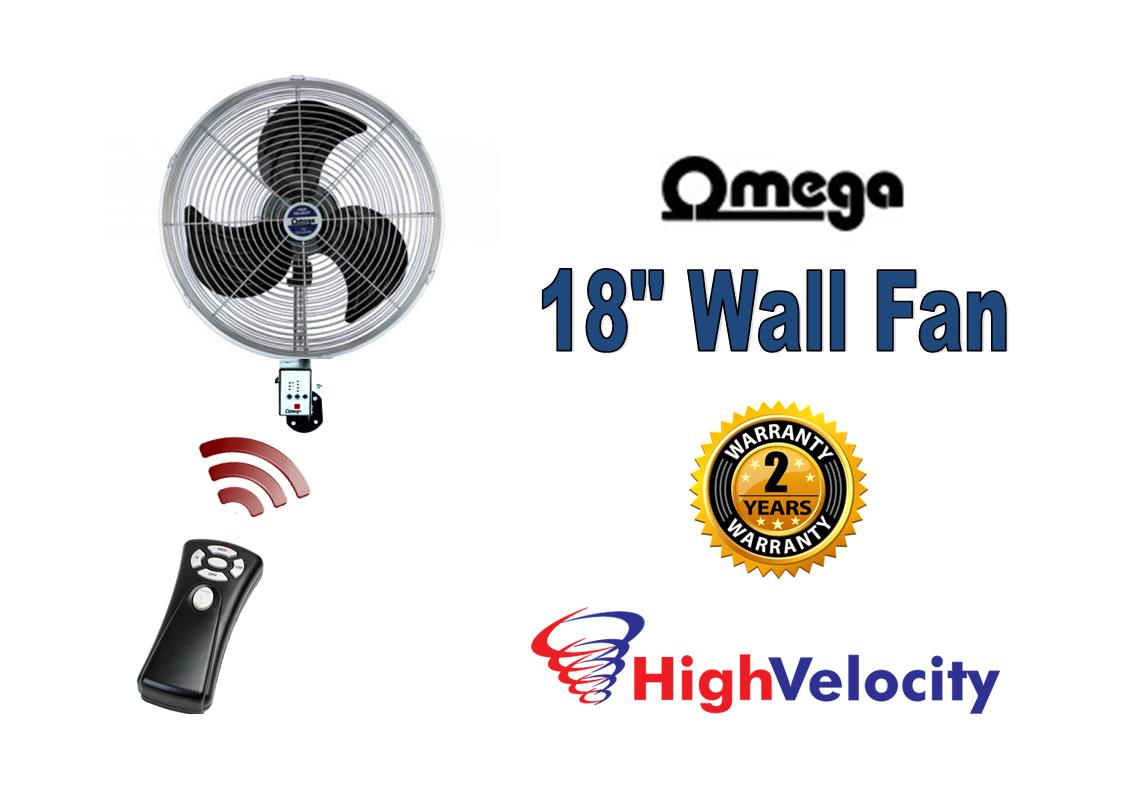 Wall fan with remote control